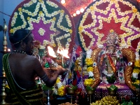 Puja in a Hindu Temple in Batticaloa