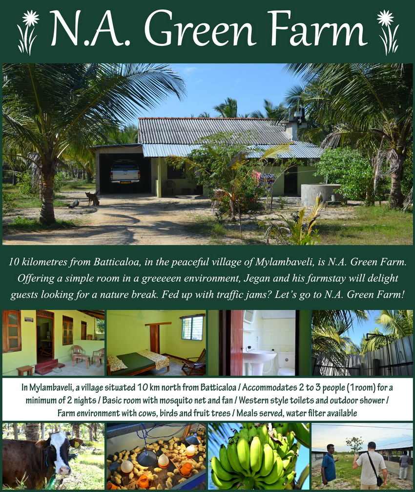 Homestays in Batticaloa - Mylambaveli - N.A. Green Farm