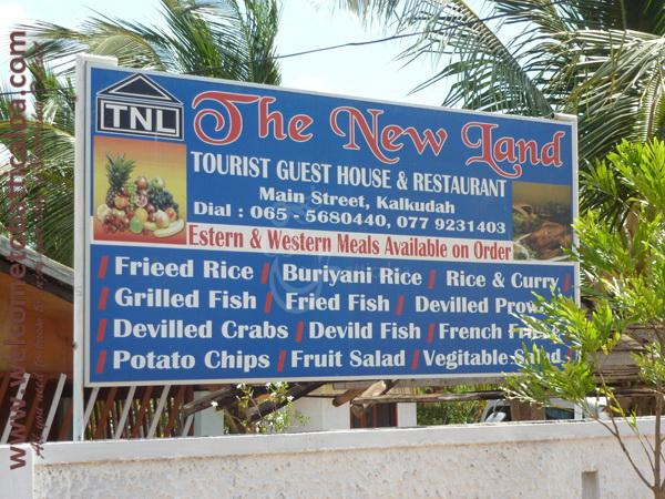 The New Land 18 - Kalkudah Guesthouse & Restaurant - Welcome to Batticaloa